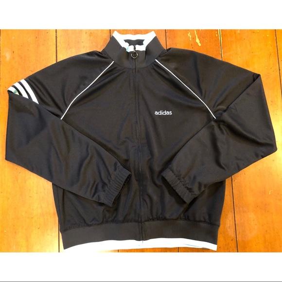 Adidas Track Suit black/light blue Medium